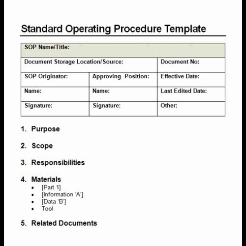 Operations Manual Template Free Unique 9 Standard Operating Procedure sop Templates Word