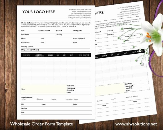 Order forms Template Word Awesome order form and Price Sheet On One Page wholesale order form