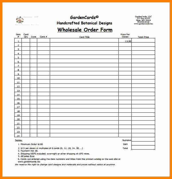 Order forms Template Word Best Of 6 order Slip Template