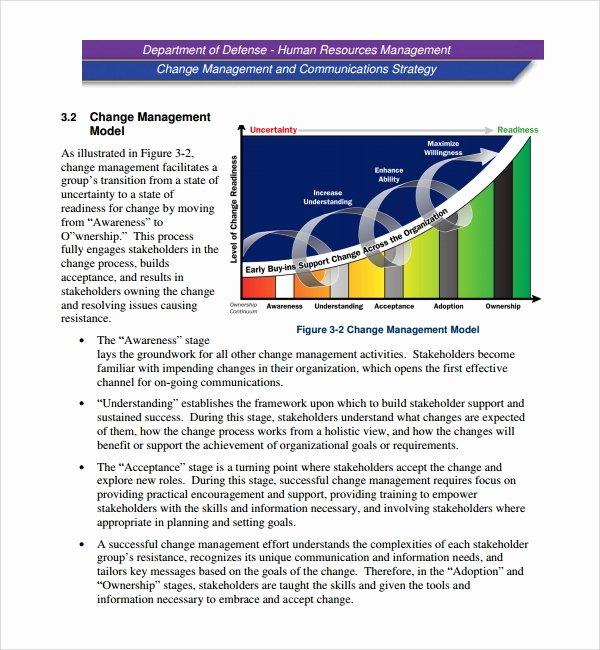 Organizational Change Management Plan Template Beautiful Sample Change Management Plan Template 13 Free