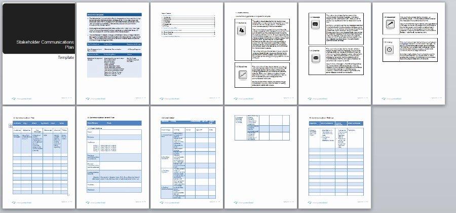 Organizational Change Management Plan Template Elegant Stakeholder Munication Plan Change Management Methodology