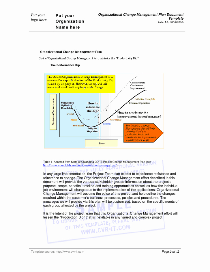 Organizational Change Management Plan Template Inspirational 28 Of Document Management Plan Template