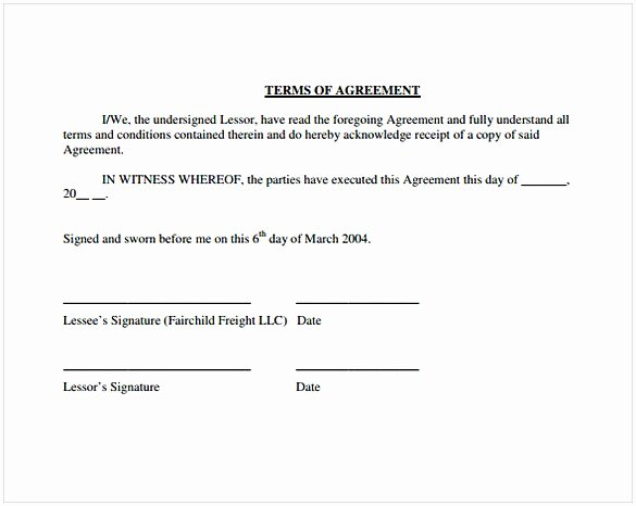 Owner Operator Lease Agreement Template Beautiful Owner Operator Lease Agreement