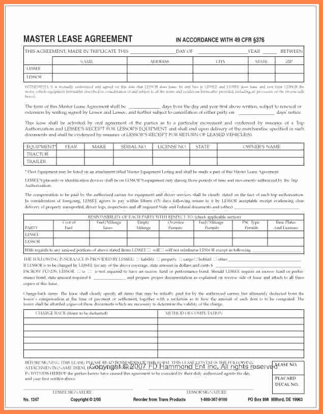 Owner Operator Lease Agreement Template Luxury 7 Owner Operator Lease Agreement Template