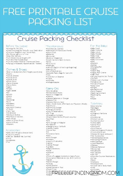 Packing List Template Pdf Inspirational Free Printable Caribbean Cruise Packing List