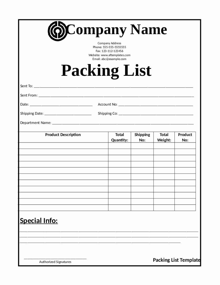 Packing List Template Pdf Unique 2019 Release Of Interest form Fillable Printable Pdf