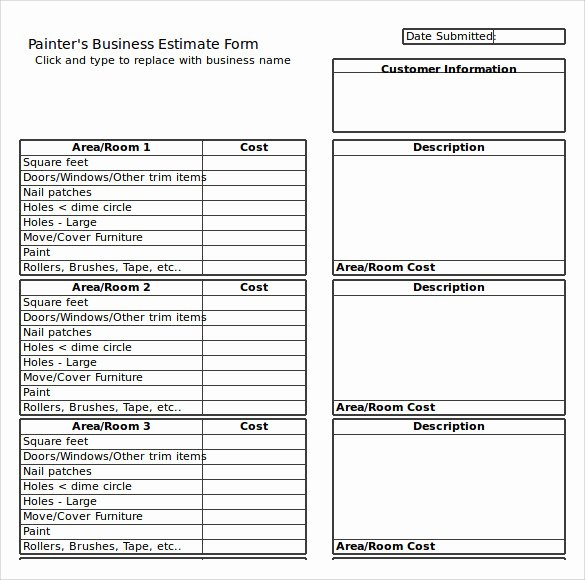 Painting Estimate Template Excel Beautiful 9 Painting Estimate Templates Pdf Excel