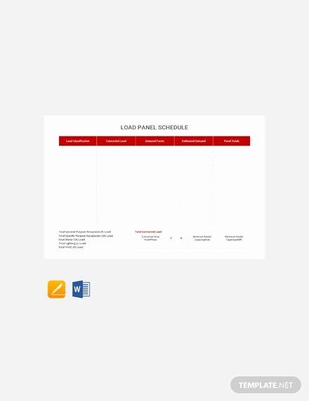 Panel Schedule Template Excel Best Of Free Electrical Panel Schedule Template Download 173
