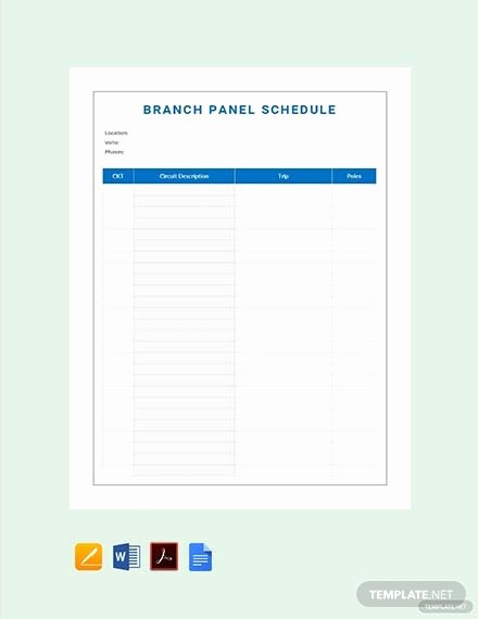 Panel Schedule Template Excel Lovely Free Electrical Panel Schedule Template Download 173