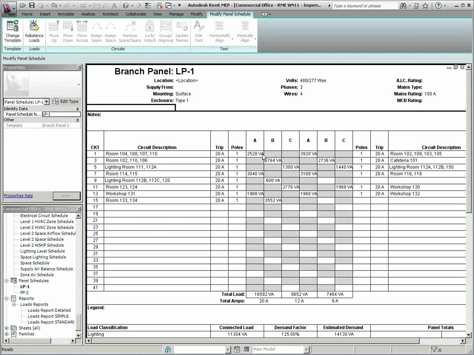 Panel Schedule Template Excel Luxury What S New In Revit Mep 2011 Panel Schedule Templates