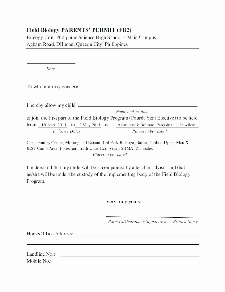 Parent Release form Template Elegant Parent Release form Template – Meltfm