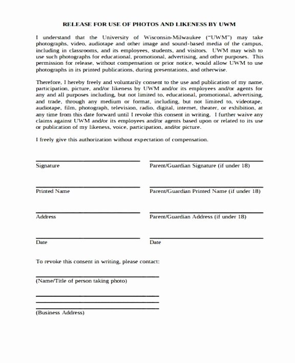 Parent Release form Template Inspirational 5 Parental Release form Template Euuiq