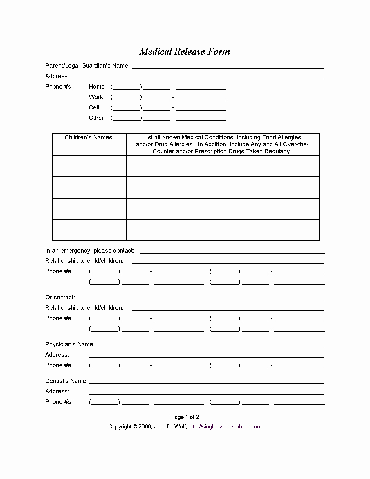 Parent Release form Template Luxury Medical Consent form when You Might Need E