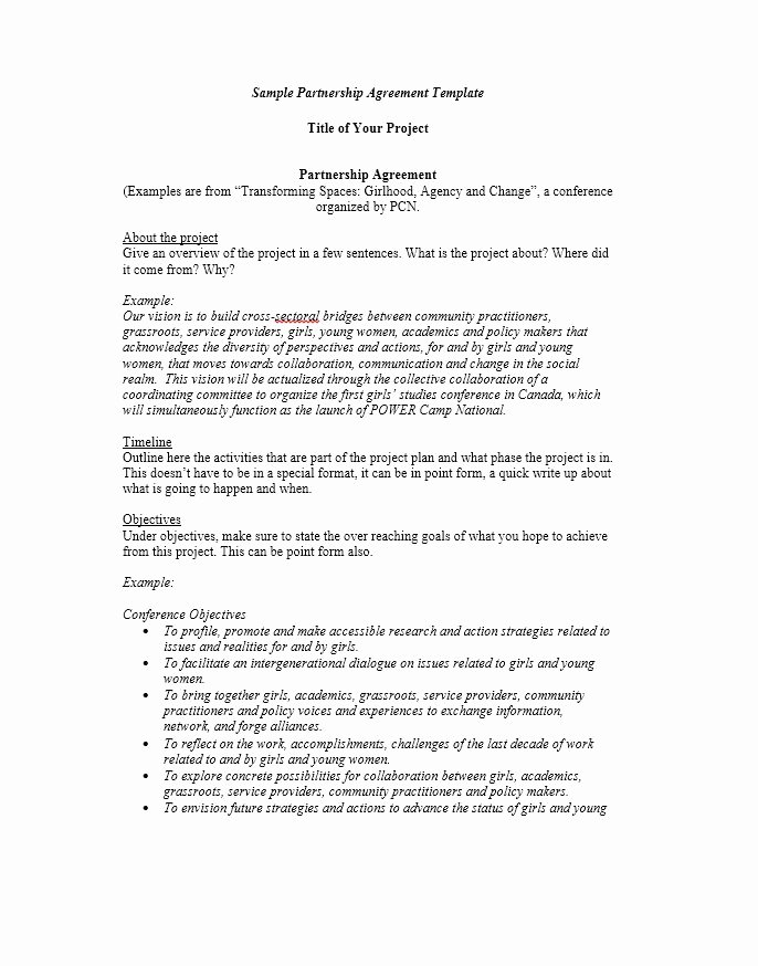 Partnership Agreement Template Word Best Of 40 Free Partnership Agreement Templates Business General