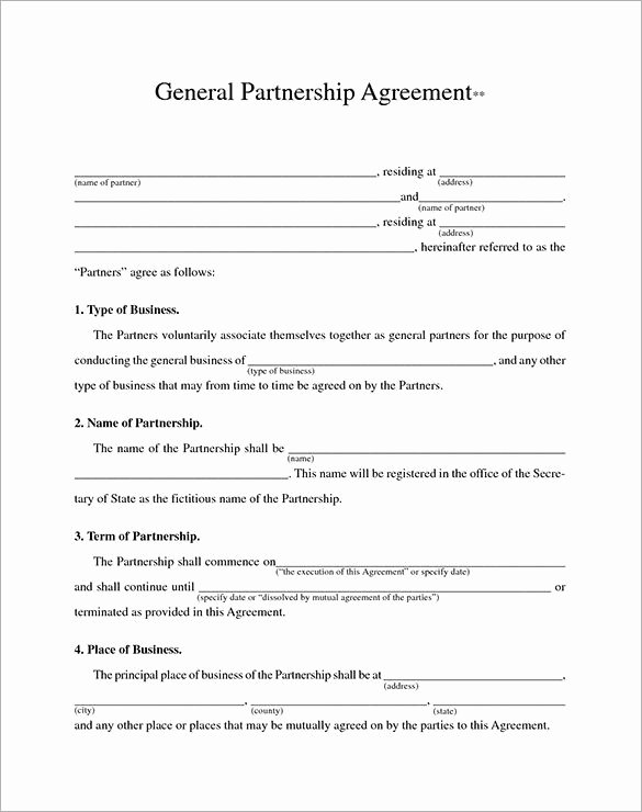 Partnership Agreement Template Word Best Of Business Contract Template – 10 Free Word Pdf Documents