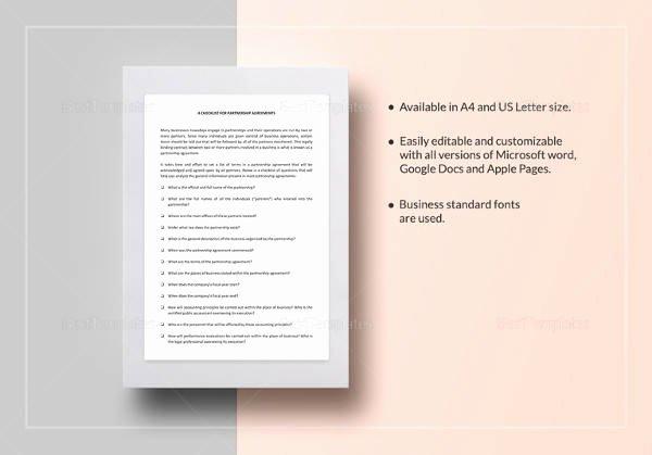 Partnership Agreement Template Word Elegant Sample Domestic Partnership Agreement 12 Free Documents
