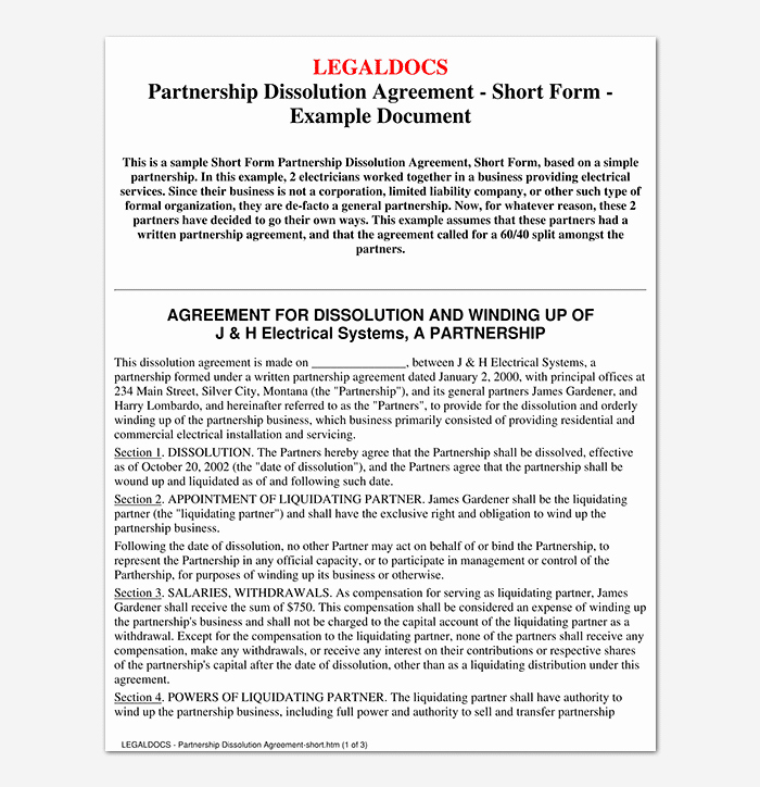 Partnership Agreement Template Word Fresh Partnership Agreement Template 12 Agreements for Word