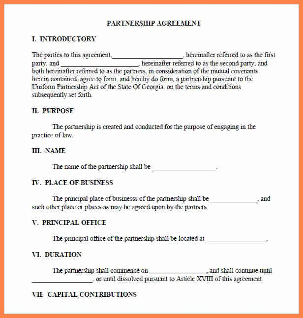 Partnership Agreement Template Word Lovely 4 Partnership Agreement Template Word Document