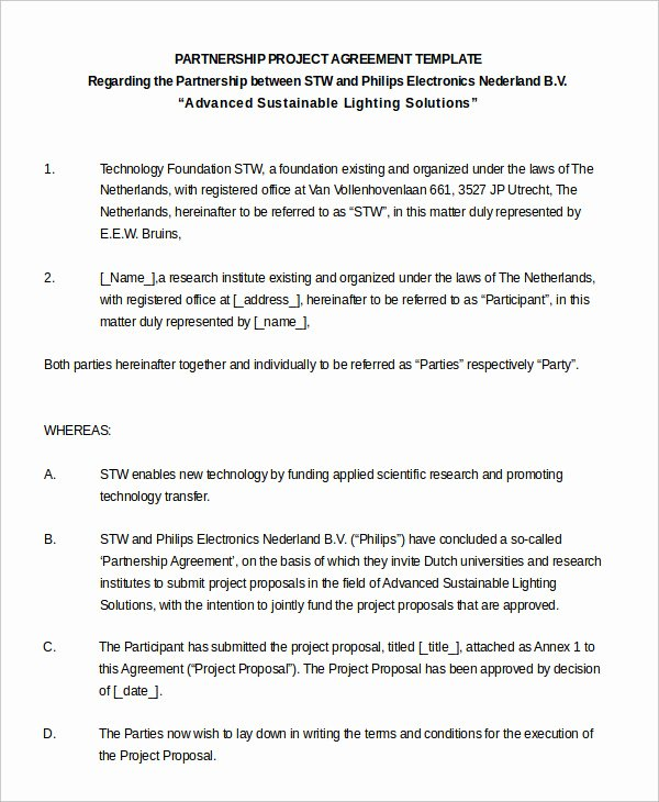 Partnership Agreement Template Word New Partnership Agreement 20 Free Word Pdf Documents