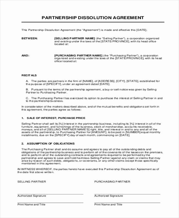 Partnership Buyout Agreement Template Best Of 11 Partnership Agreement form Samples Free Sample