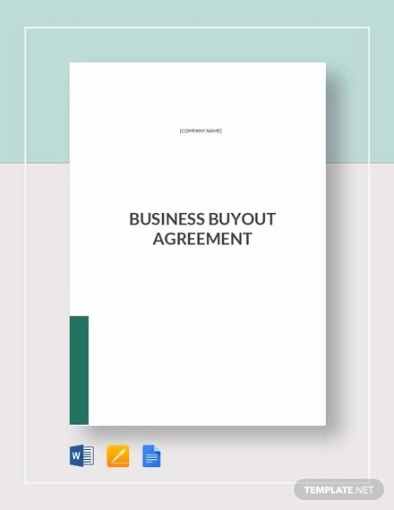 Partnership Buyout Agreement Template Fresh Sample Business Buyout Agreement 6 Examples In Word