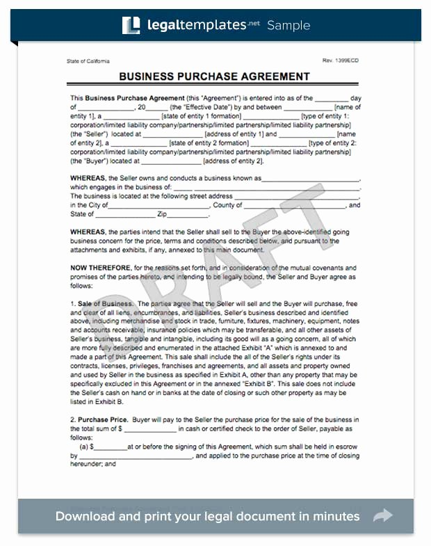 Partnership Buyout Agreement Template Unique Create A Business Purchase Agreement