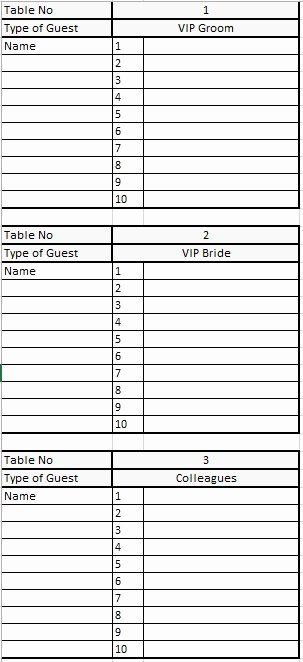 Party Guest List Template Awesome 21 Free Wedding Party Guest List Templates Ms Fice