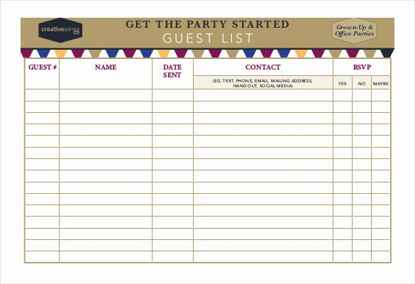 Party Guest List Template Best Of 23 Birthday List Templates Free Sample Example format