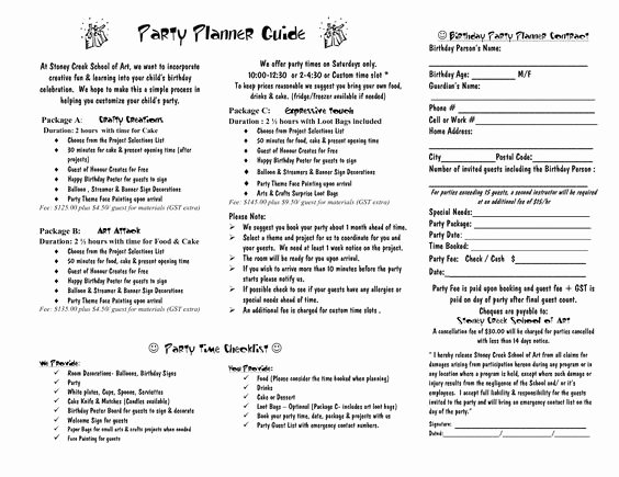 Party Planner Contract Template Lovely Party Planner Contract Template Google Search