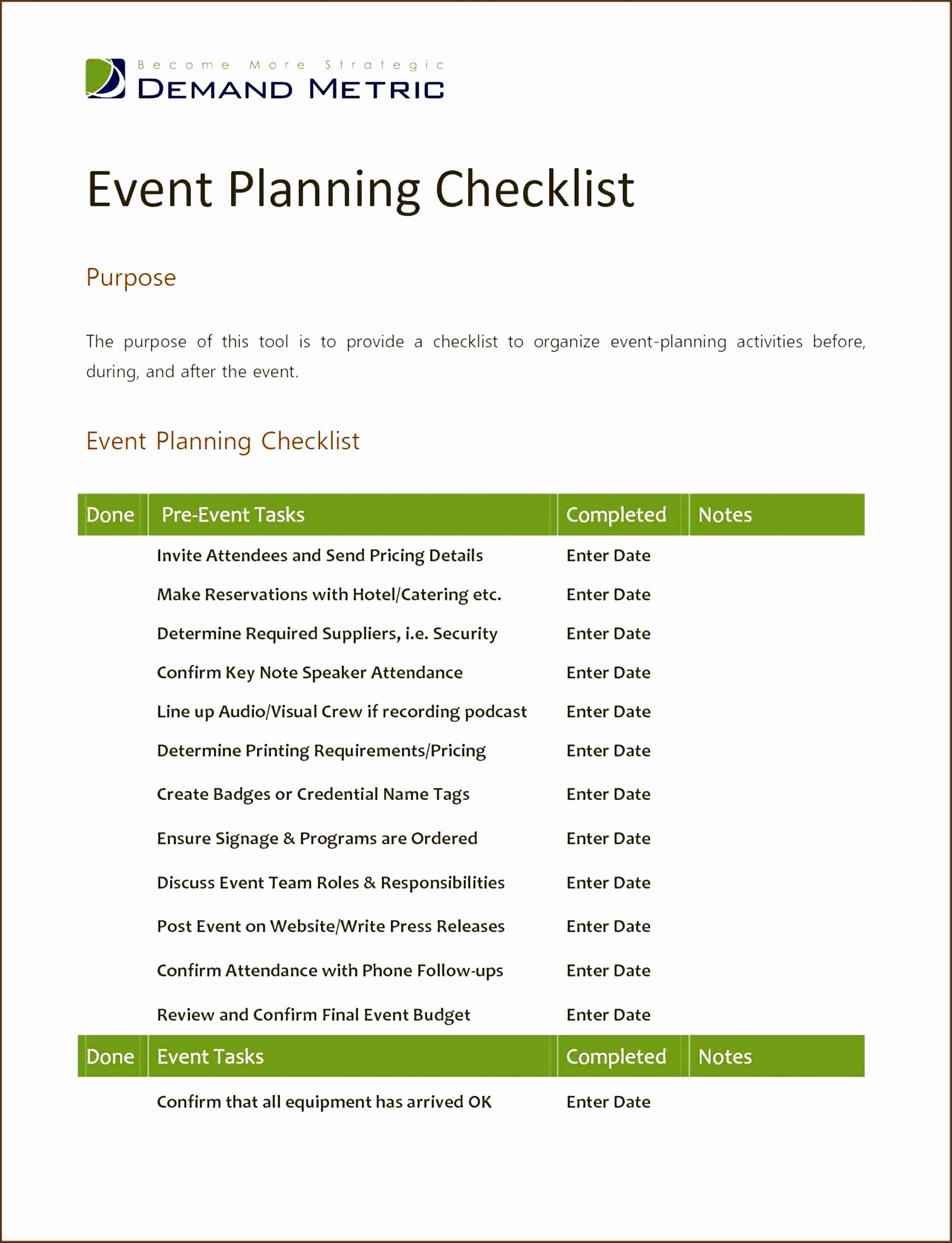 Party Planner Contract Template Luxury 7 Church event Planning Checklist Template