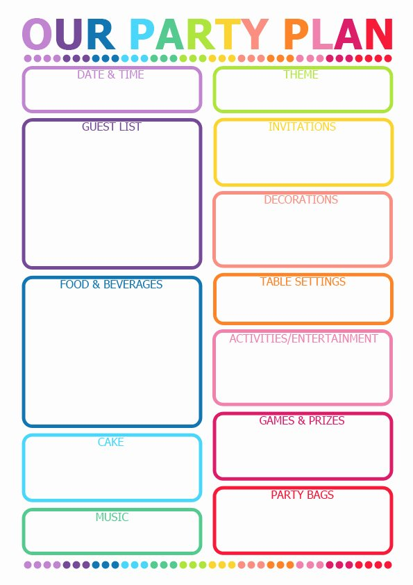 Party Planning Template Free Best Of How to Plan A Party Printable Planner