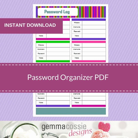 Password Log Template Pdf Inspirational Password organizer Log Pdf 1 X Printable Pdf Password Log