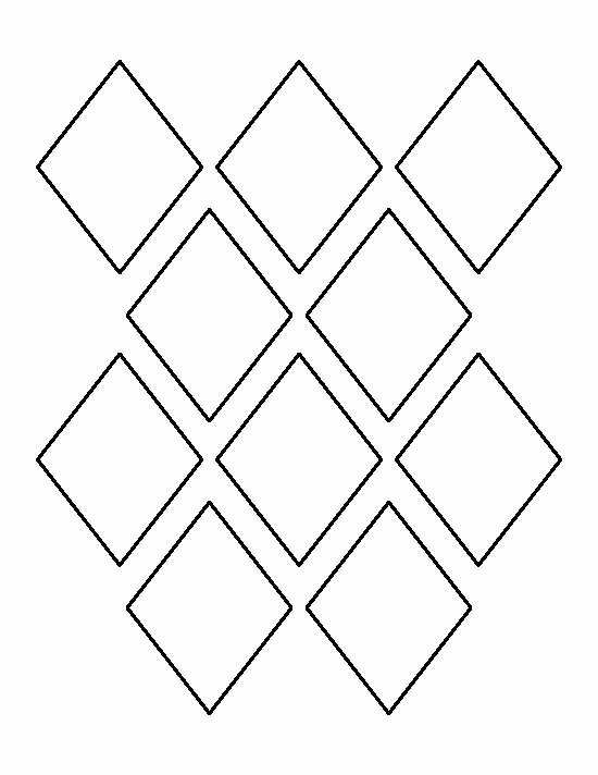 Pattern Block Templates Pdf Beautiful 3 Inch Diamond Pattern Use the Printable Outline for
