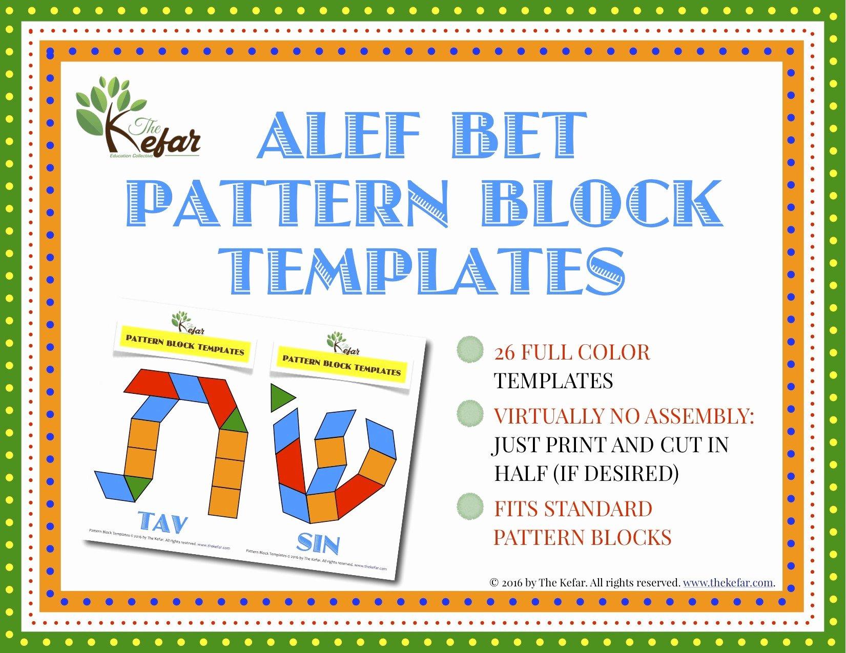 Pattern Block Templates Pdf Beautiful Alef Bet Pattern Block Templates