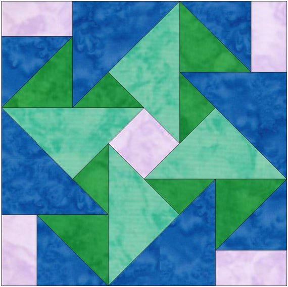 Pattern Block Templates Pdf Fresh Whirligig origami Paper Template 10 Inch Quilting Block