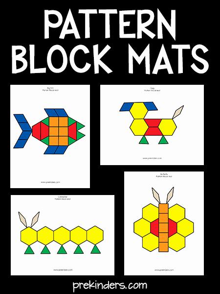 Pattern Block Templates Pdf Inspirational Pattern Block Mats Prekinders