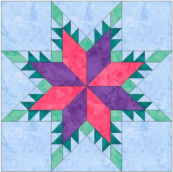 Pattern Block Templates Pdf Lovely Feathered Star Lemoyne Paper Piece Template Quilting Block