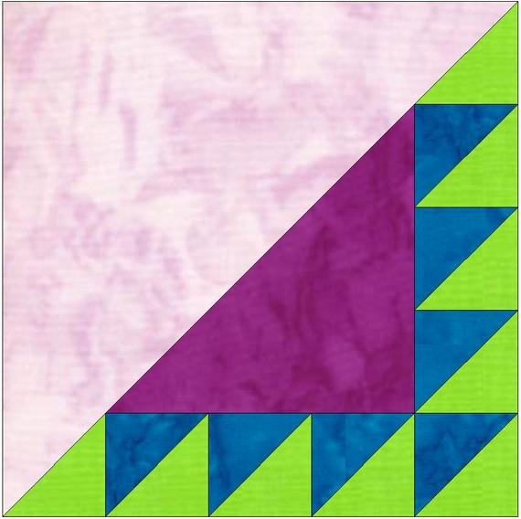 Pattern Block Templates Pdf Lovely Sawtooth 5 Paper Piece Template Quilting Block Pattern Pdf