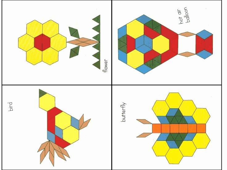 Pattern Block Templates Pdf Luxury Pattern Blocks 2 Pdf Preschool Ideas