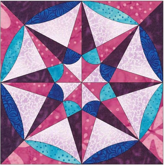 Pattern Block Templates Pdf New Faceted Star Paper Template Quilting Block Pattern Pdf