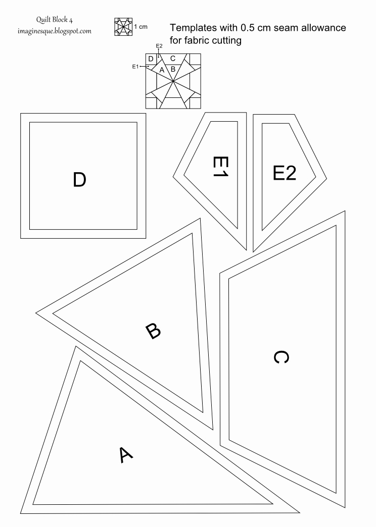 Pattern Block Templates Pdf New Imaginesque Quilt Block 4 Pattern and Templates