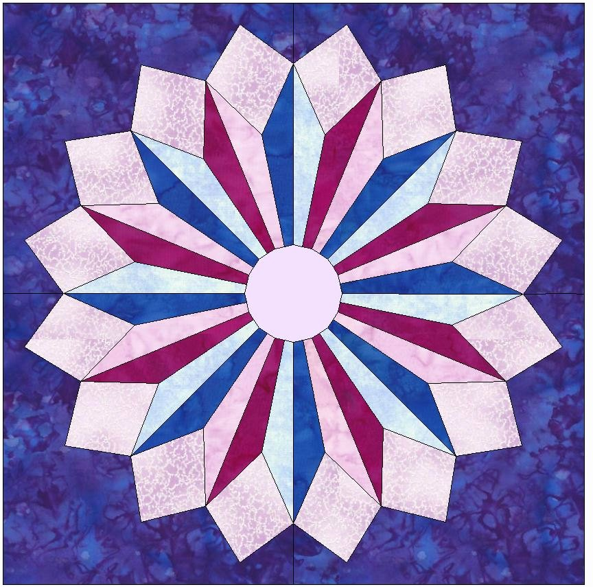 Pattern Block Templates Pdf New Star Burst Paper Template Quilting Block Pattern Pdf