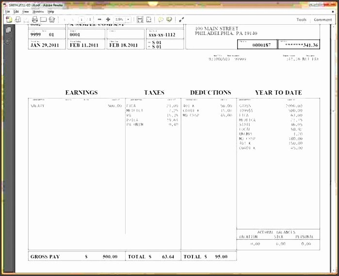 Pay Stub Template Word Elegant 6 Free Pay Stub Template In Word Sampletemplatess