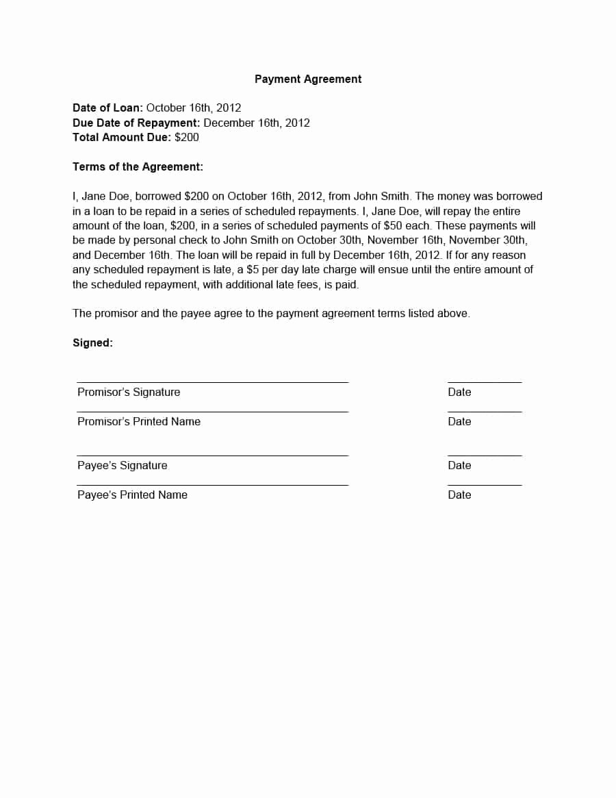 Payment Plan Agreement Template Best Of 33 Great Payment Plan Schedule Templates Template Archive