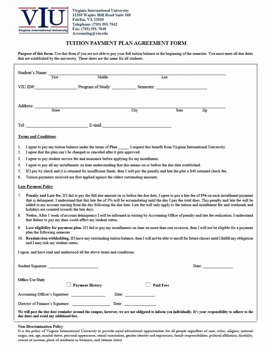 Payment Plan Agreement Template Best Of Payment Agreement 40 Templates & Contracts Template Lab