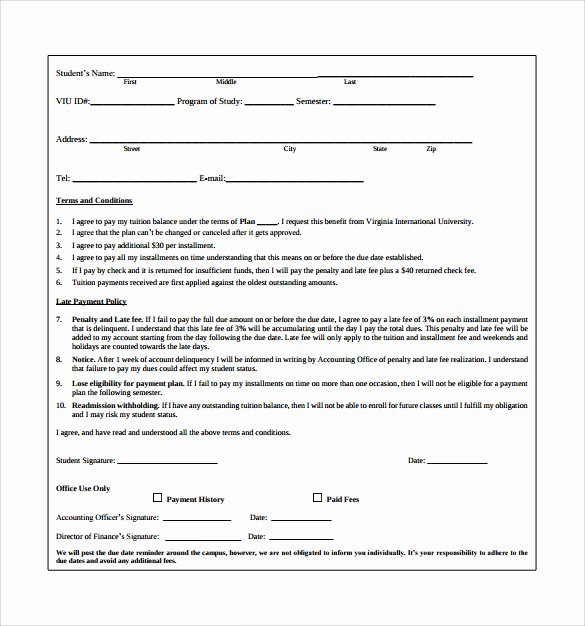 Payment Plan Agreement Template Luxury Payment Plan Templates 10 Download Free Documents In Pdf