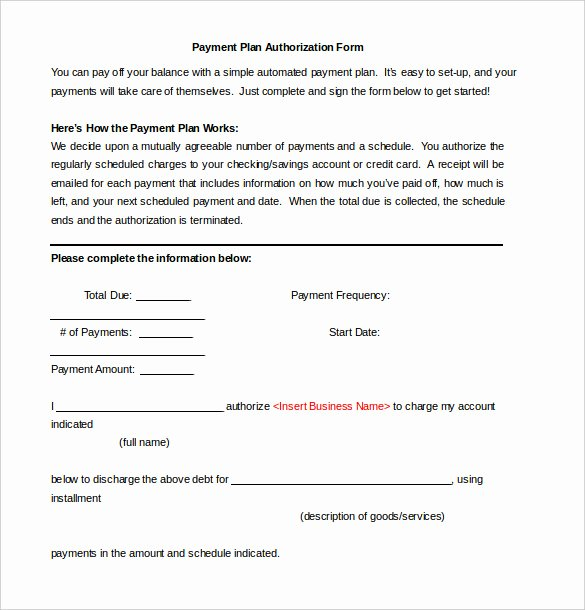 Payment Plan Agreement Template New 27 Of Payment Approval form Template
