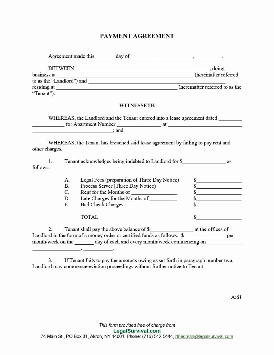 Payment Plan Agreement Template New 33 Great Payment Plan Schedule Templates Template Archive