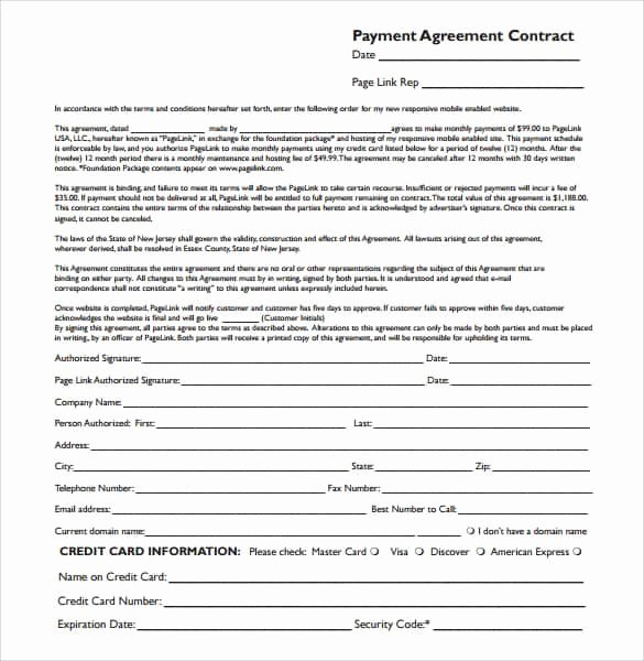 Payment Plan Agreement Template Word Awesome Payment Plan Agreement Templates Word Excel Samples