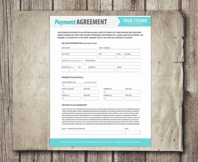 Payment Plan Contract Template Inspirational Payment Plan Template Graphy Financial Contract